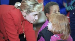 Hillary Clinton was a strong advocate for children and families during her time as the  First Lady of Arkansas and gained an insight into the inner-working of government as she watched her husband work to pass various reforms.