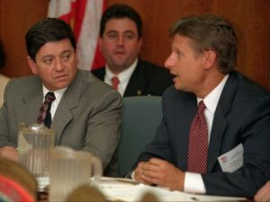 Gary Johnson forged a reputation as a Libertarian-leaning Republican during his time as governor who was not afraid to take on both political parties.