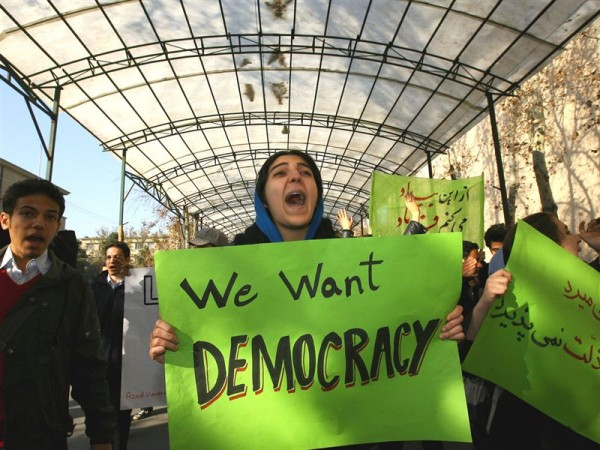 Support for increasing levels of democracy within Iran is divided, with the youth an less religious generally more supportive of democratic reforms.