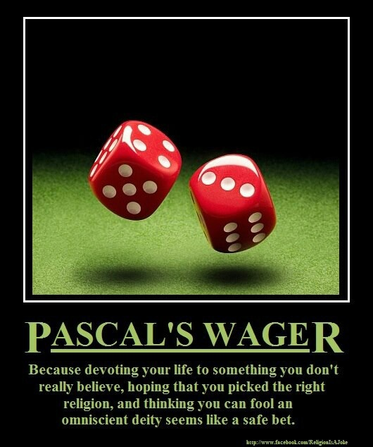 pascal wager argument essay Many people who study philosophy or religion eventually become familiar with pascal's wager, a simple argument about whether an individual essays books.