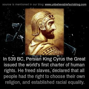 The tradition of religious tolerance in Iran dates back to the time of Cyrus the Great.
