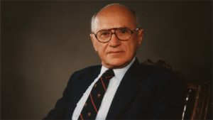 Milton Freidman was one of the major figures behind Modern Conservative political theory and felt that the role of government in society needed to be limited.