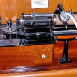 The Edison Class M was the first commercially available cylinder phonograph and was manufactured from 1888-1894.