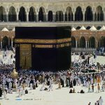 The Kaaba (located in Mecca, Saudi Arabia) is the holiest site within Islam and is visited by millions of worshipers each year.