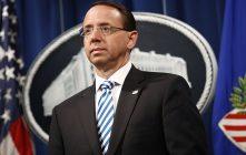 Former Deputy Attorney General Rosenstein To Testify In Senate Regarding Trump-Russia Probe